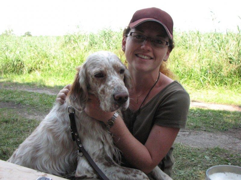 Spokojená dvojka, vůdce i pes :-)