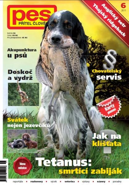 Titulka PES přítel člověka 6/2011